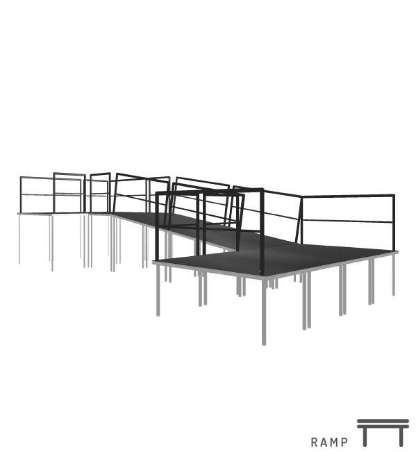 StageDex Ramp constructies | StageCompany Podium opties en Podium delen Huren